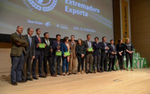 """Premios """"Extremadura Exporta"""" , celebrados en el edificio siglo XXI."""
