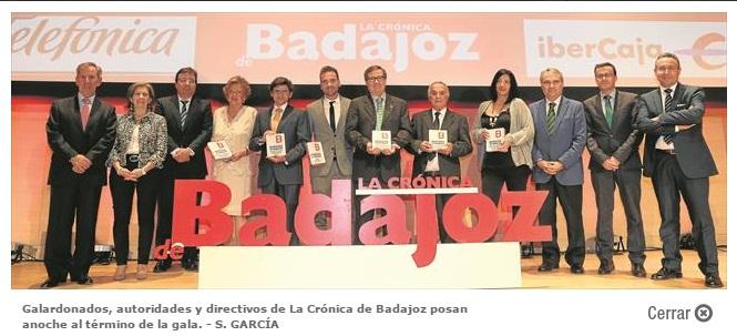 Manuel Vázquez Gimón, fundador de Conesa, recibe el Premio Empresario de Badajoz